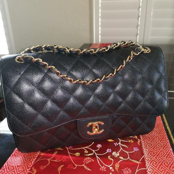 955fd425e045a CHANEL Bags | Classic Flap Jumbogold Hardware Caviar Le | Poshmark